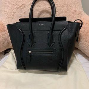 Celine Micro Luggage in Black